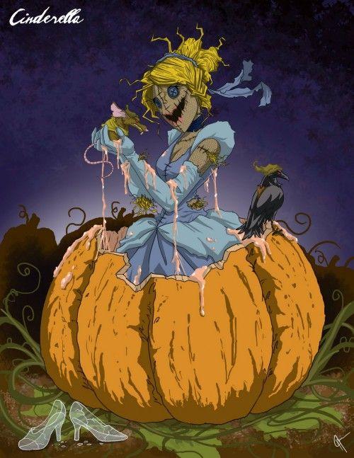 もしもディズニー プリンセスが敵だったら を描いた19のイラスト